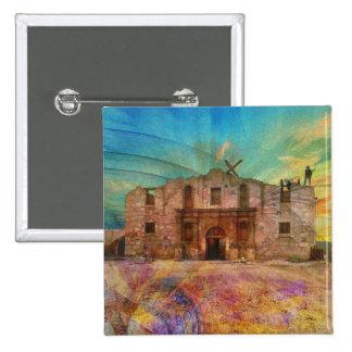 Dawn At The Alamo 15 Cm Square Badge