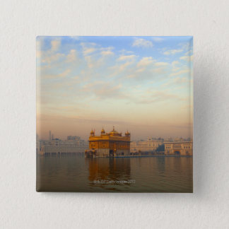Dawn at the Golden Temple 15 Cm Square Badge