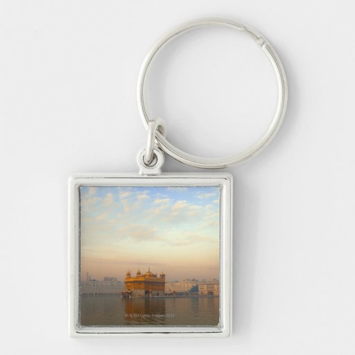 Dawn at the Golden Temple Keychain