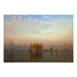 Dawn at the Golden Temple Poster