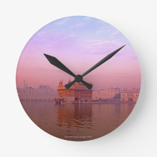 Dawn at The Golden Temple Round Clock