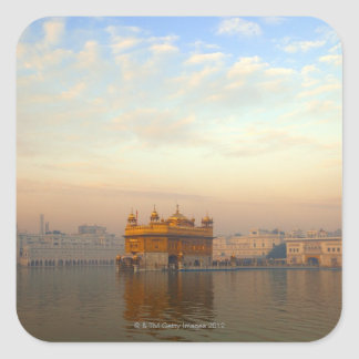 Dawn at the Golden Temple Square Sticker
