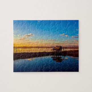 Dawn At The Lagoon Jigsaw Puzzle Puzzle