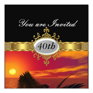 Dawn Black  Birthday Party Glamour Invitation Personalized Announcement