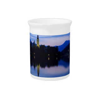 Dawn breaks over Lake Bled Pitcher