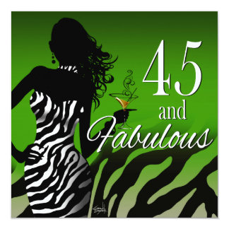 Dawn ::CUSTOM:: Bombshell Zebra 45th Birthday Card