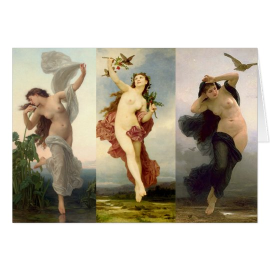 Dawn, Day, Dusk - Bouguereau Card