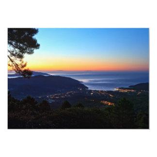 dawn in Elba island 13 Cm X 18 Cm Invitation Card