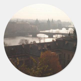 Dawn in Prague sticker
