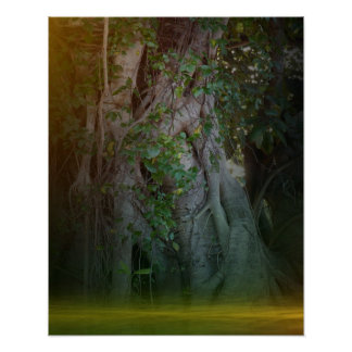 Dawn in the Emerald Forest Poster