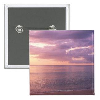 Dawn meets beach 15 cm square badge