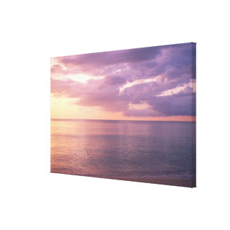 Dawn meets beach canvas print