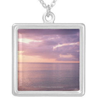 Dawn meets beach silver plated necklace