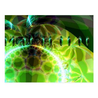 Dawn of Time – Lime & Gold Emerge Postcard