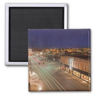 Dawn on Main Street of Bismarck, North Dakota Magnet