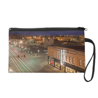 Dawn on Main Street of Bismarck, North Dakota Wristlet