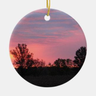 Dawn on the Family Farm Christmas Ornament