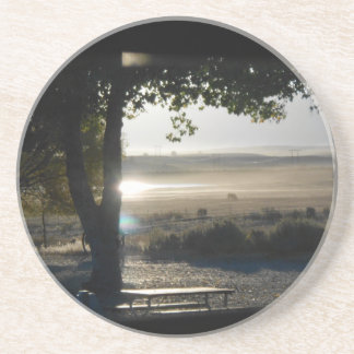 Dawn on the Ranch Beverage Coaster