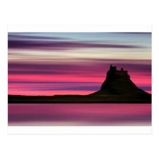 Dawn over Holy Island Postcard