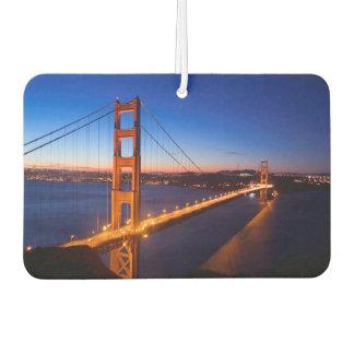 Dawn over San Francisco and Golden Gate Bridge. Car Air Freshener