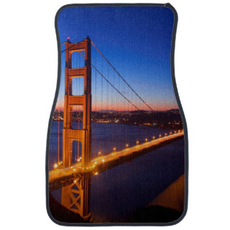 Dawn over San Francisco and Golden Gate Bridge. Car Mat