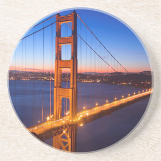 Dawn over San Francisco and Golden Gate Bridge. Coaster