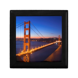 Dawn over San Francisco and Golden Gate Bridge. Gift Box