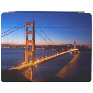 Dawn over San Francisco and Golden Gate Bridge. iPad Cover