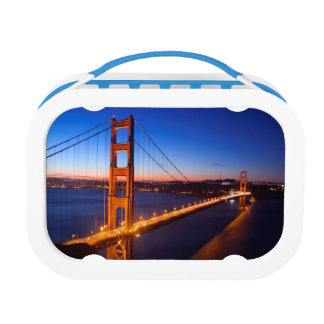 Dawn over San Francisco and Golden Gate Bridge. Lunch Box
