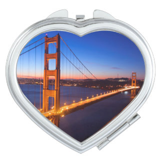 Dawn over San Francisco and Golden Gate Bridge. Mirrors For Makeup