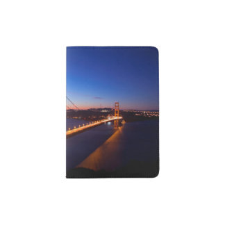 Dawn over San Francisco and Golden Gate Bridge. Passport Holder