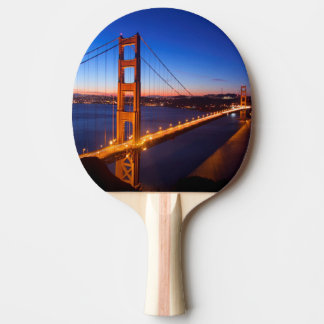 Dawn over San Francisco and Golden Gate Bridge. Ping Pong Paddle