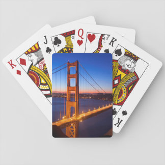 Dawn over San Francisco and Golden Gate Bridge. Playing Cards