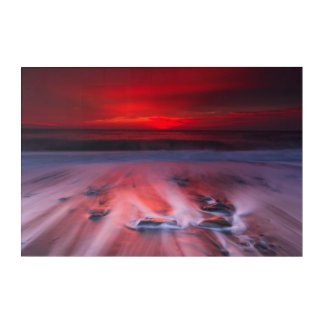 Dawn Over The Stormy Sea Acrylic Wall Art