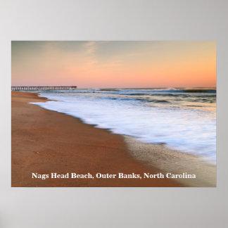 Dawn Seascape at Nags Head Beach Poster