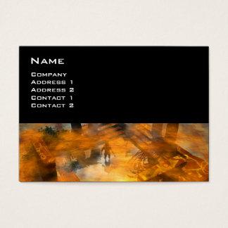 DAWNING DARK/ ALIEN WORLDS Science Fiction Business Card