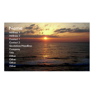 Dawning/Seascape Business Card Business Card Template