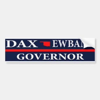 Dax Ewbank for Governor of Oklahoma Bumper Sticker