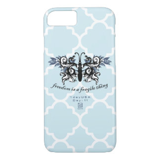 "Day : 11 - ""Freedom"" Phone Case Blue"