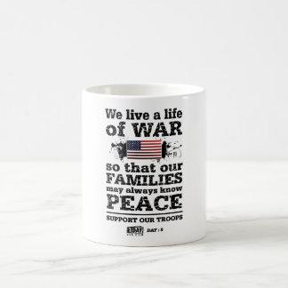 "Day : 5 - ""Life of War"" Cup Basic White Mug"