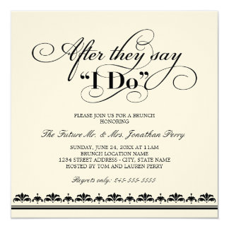 Day After Wedding Brunch Invitation | Wedding Vows