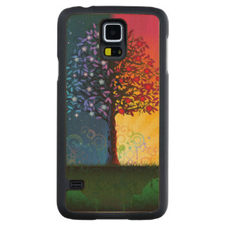 Day And Night Tree Carved Maple Galaxy S5 Case
