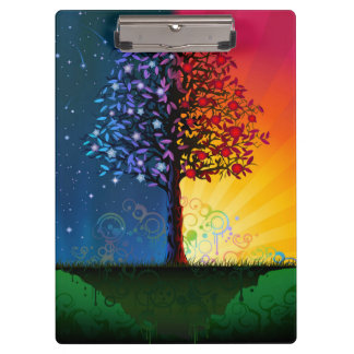 Day And Night Tree Clipboard