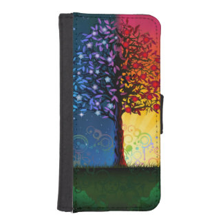 Day And Night Tree iPhone SE/5/5s Wallet Case