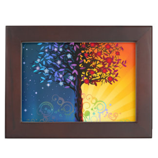 Day And Night Tree Keepsake Box