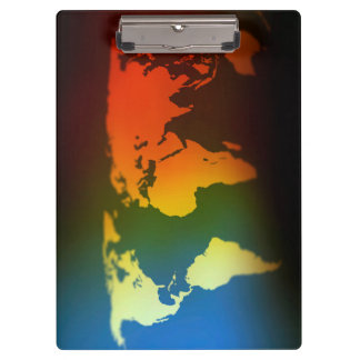 Day and night world map clipboard