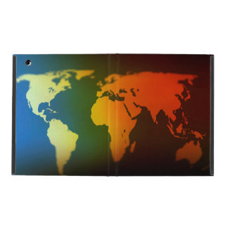 Day and night world map ipad case