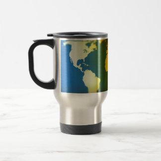 Day and night world map travel mug