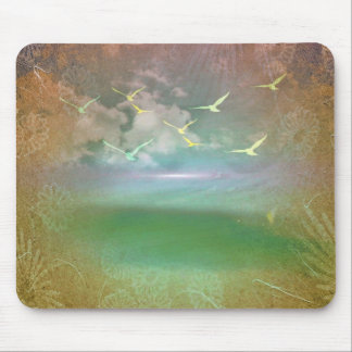 Day At The Beach Abstract Mouse Pad