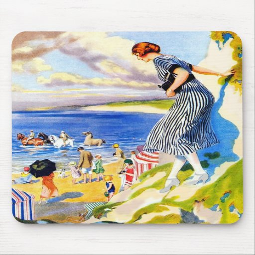 Day At the Beach Mouse Mat